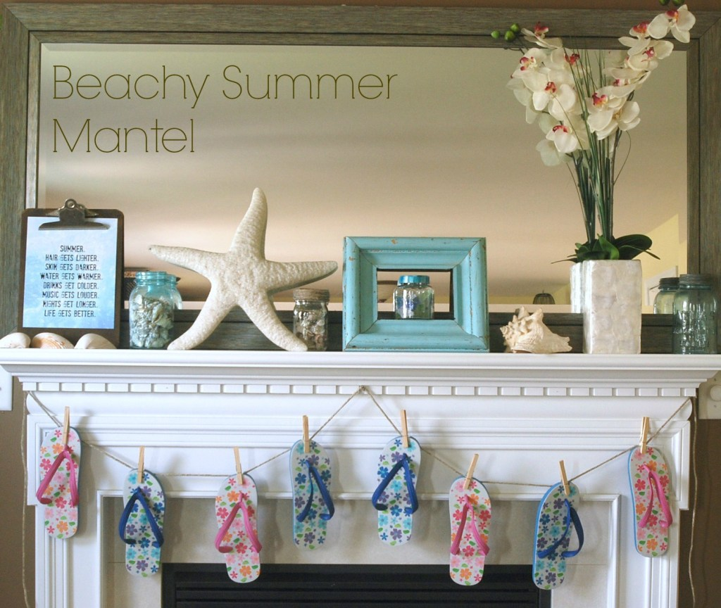 Beachy Summer Mantel from Endlessly Inspired