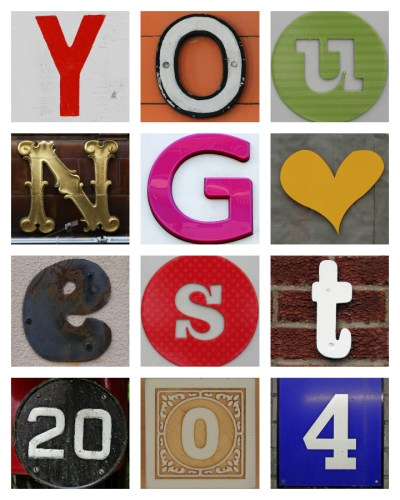 A step-by-step tutorial on how to make a family name and date collage -- using free online software!