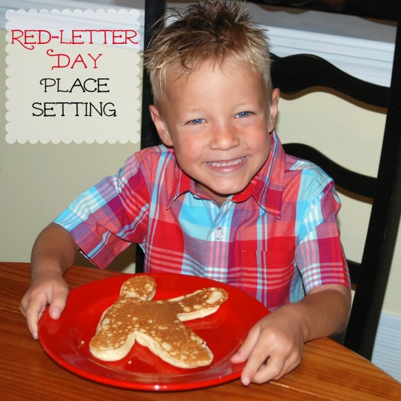 Red-letter Day Place Setting