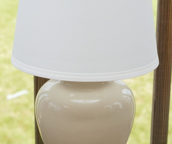 Table Lamp Makeover - White Lights on Wednesday Guest Post by Endlessly Inspired