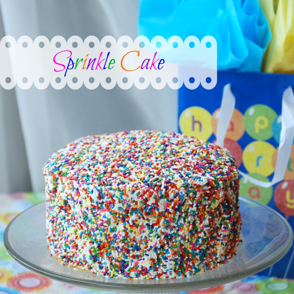 Sprinkle Cake! Learn some tips and tricks for making a beautiful, festive cake -- in 10 minutes!