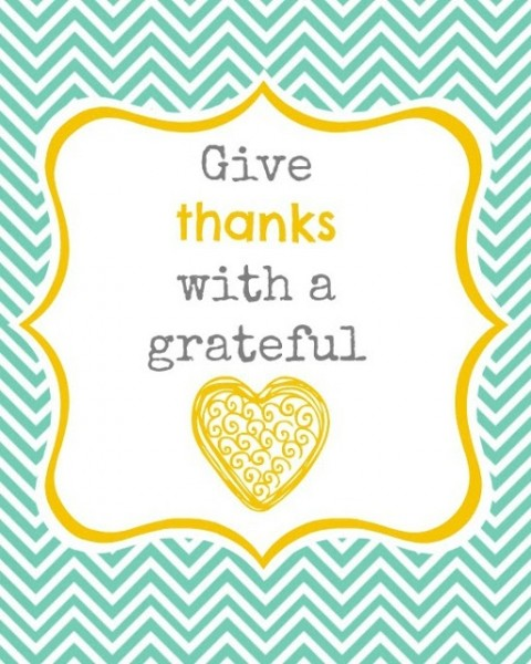 Give Thanks Printable from A Step in the Journey