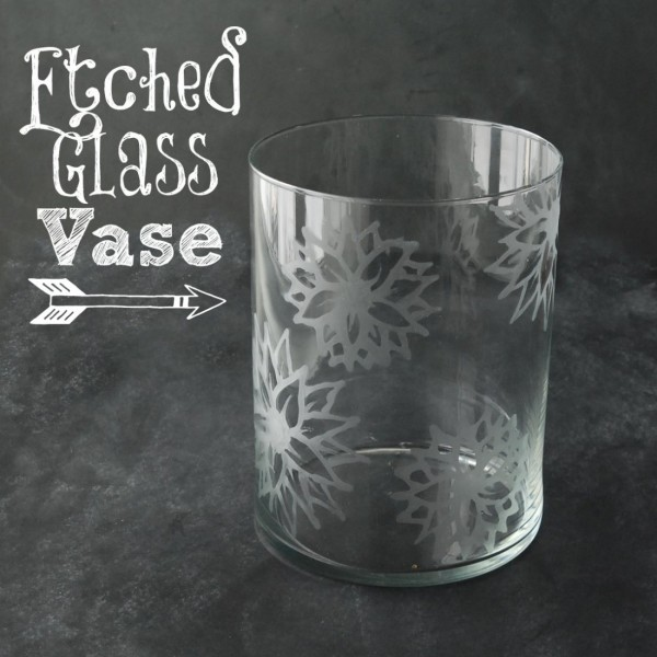 Learn how to etch a flower design onto a glass vase. It's so much easier than you'd think!