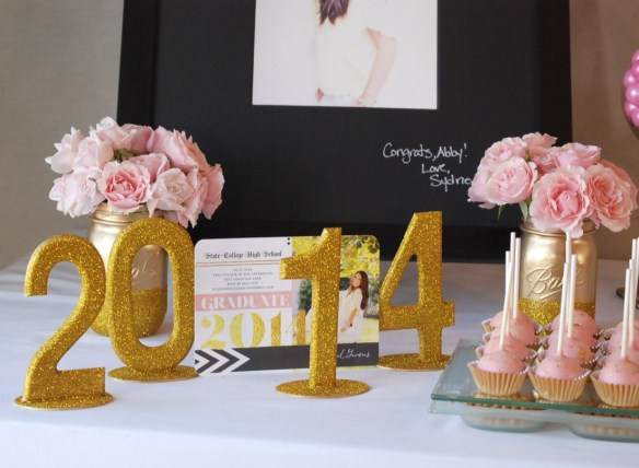 An absolutely beautiful pink and gold graduation party, filled with DIY ideas and inspired by Tiny Prints' new line of invitations.