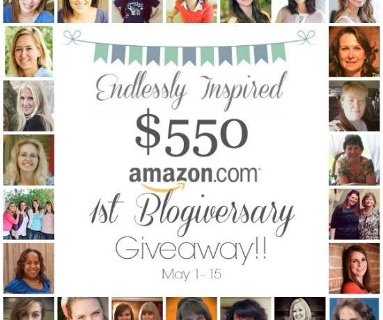 Win a $550 Amazon.com gift card from Endlessly Inspired & a bunch of her blogger friends!!