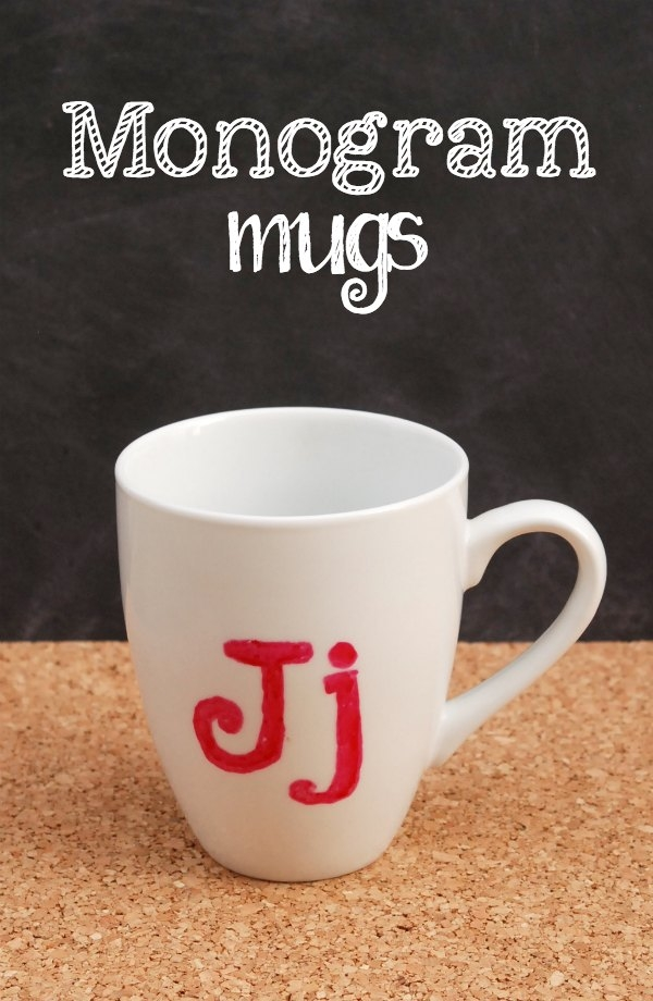 Diy monogram mugs endlessly inspired for Diy monogram gifts