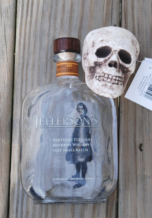 Transform a plain glass bottle into a creepy skull bottle decoration. You will never guess what you use to make this!