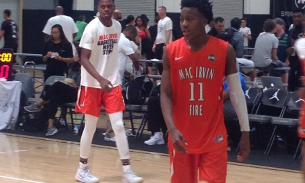 Ayo Dosunmu (18/Mac Irvin) 2017 EYBL Session 4 Highlights