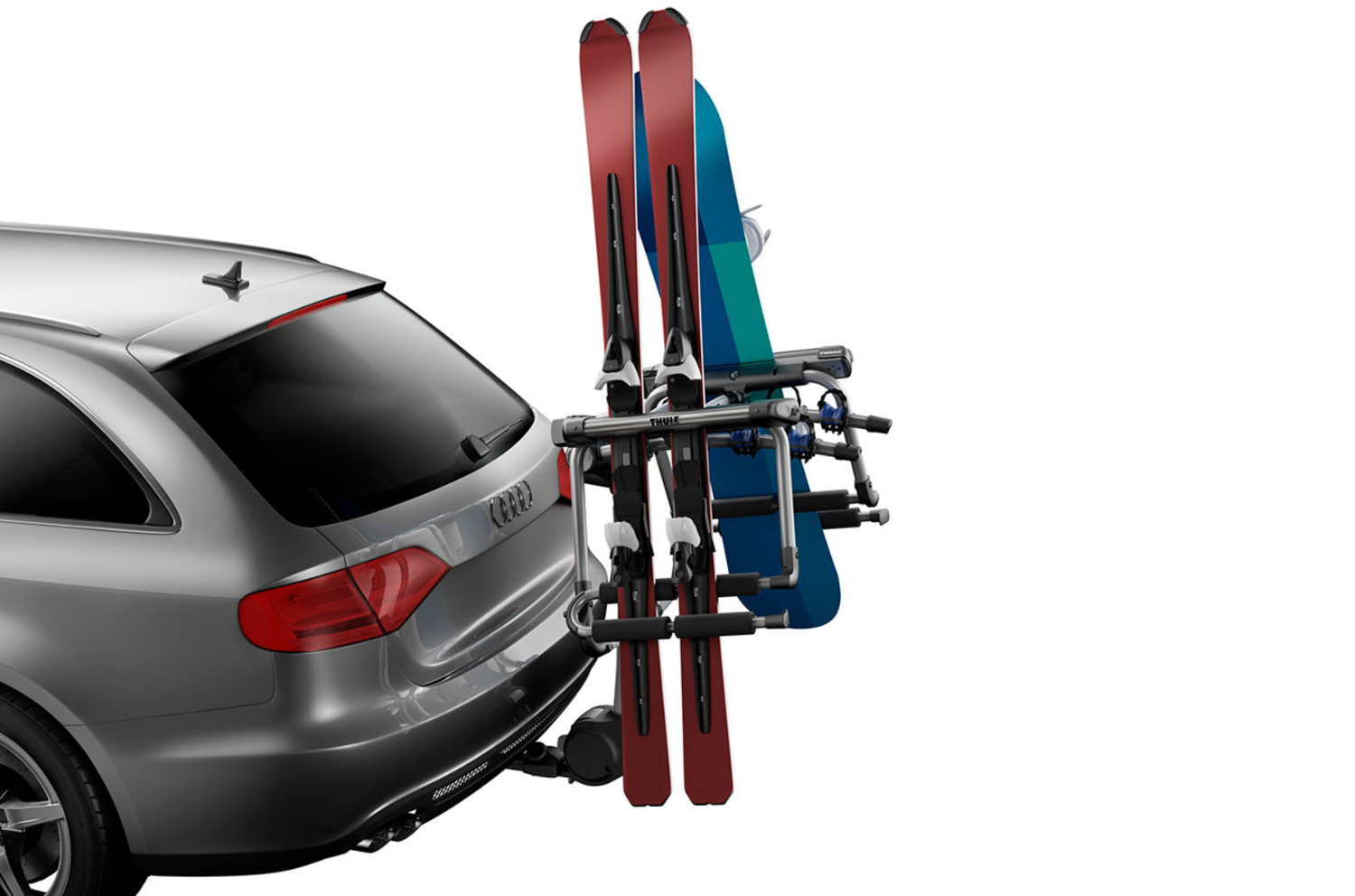 the best way to transport skis by car