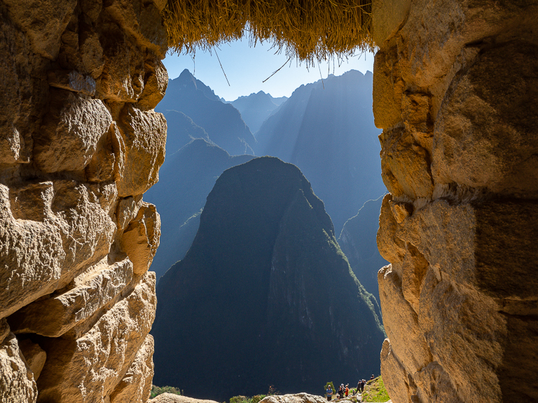 View within Machu Picchu while we were exploring the grounds.