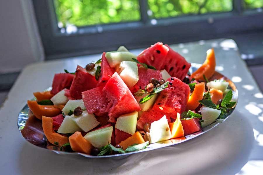 Melonen-Oliven-Salat