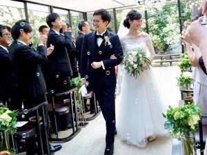 終始ウルウル(T-T)お客様の結婚式に出席♡