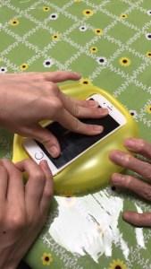 田中の、風船で簡単iphoneケース作り!?笑笑\( Ö )/