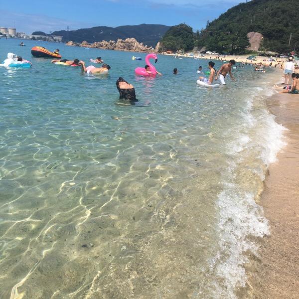 キレイな海ランキングでも上位の福井県水晶浜海水浴場へ☆