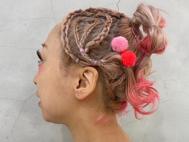 おしゃれコーンロウアレンジヘアをご紹介♪