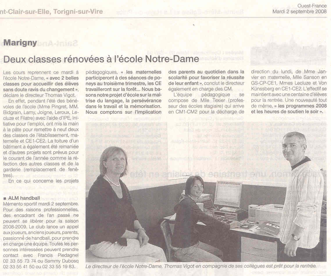 article ouest-france 020908