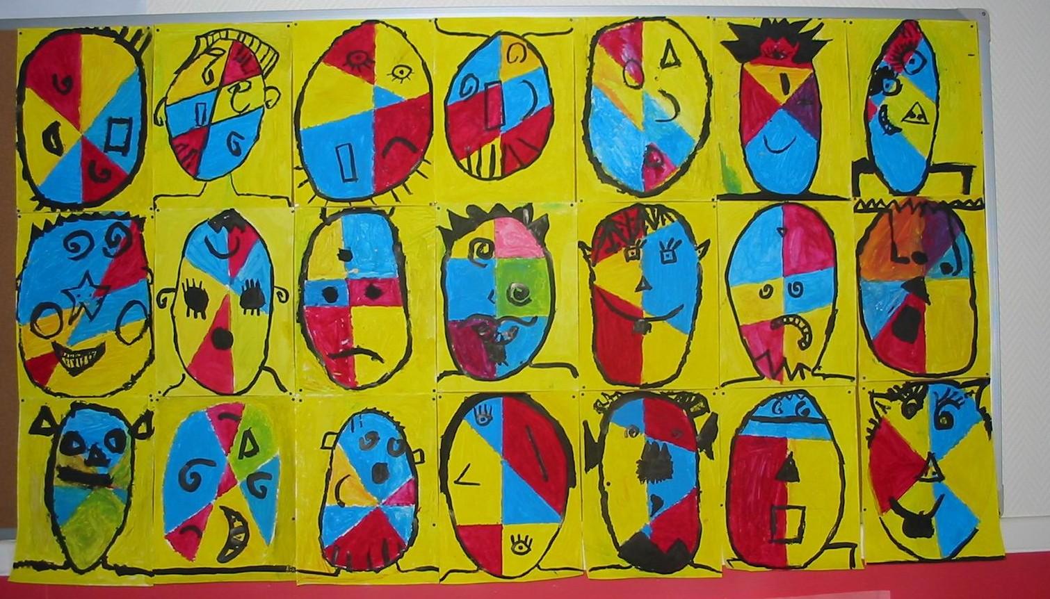 A la manière de Klee par les CE1-CE2