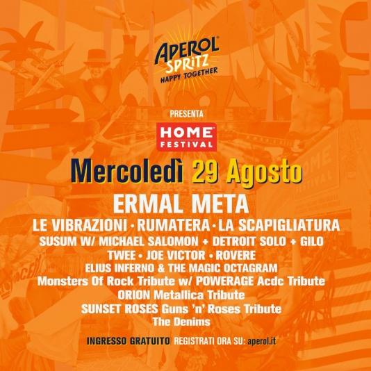 Home Festival mercoledì 29 agosto con Ermal Meta, Le Vibrazioni, Joe Victor
