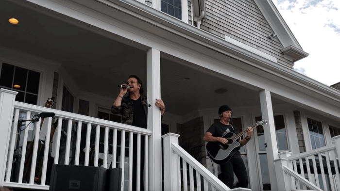 U2 concerto acustico a Cape Cod, Massachusetts, USA - Video