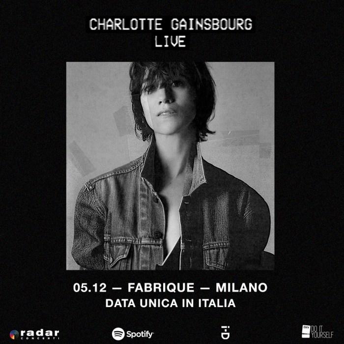Charlotte Gainsbourg concerto 5 dicembre 2018 Fabrique Milano
