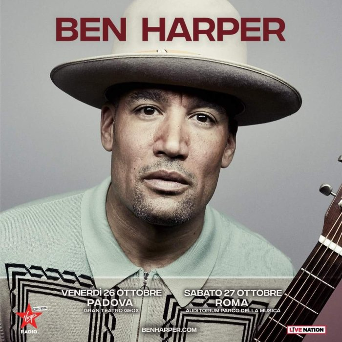 Ben Harper concerti 26 ottobre Padova 27 ottobre Roma