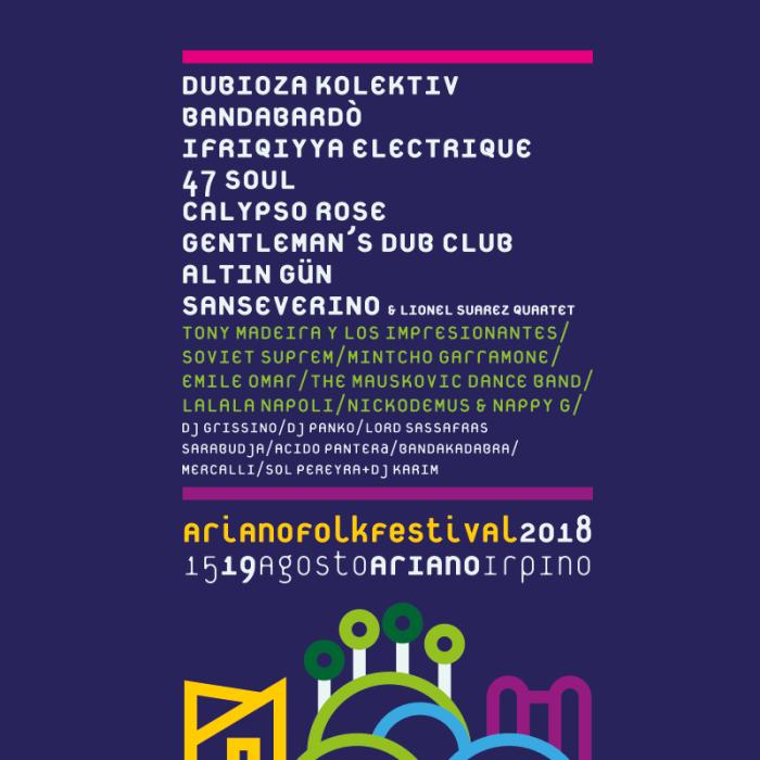 ariano folkfestival 2018 locandina foto