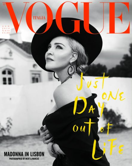 madonna vogue italia agosto 2018 copertina foto