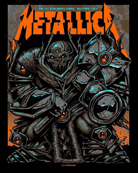 Metallica locandina concerto 14 febbraio 2018