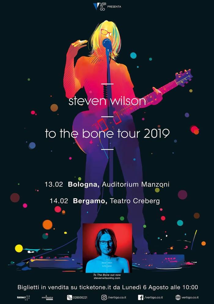 """Steven Wilson """"To The Bone Tour 2019"""" concerti 13 febbraio Bologna, 14 febbraio Bergamo"""