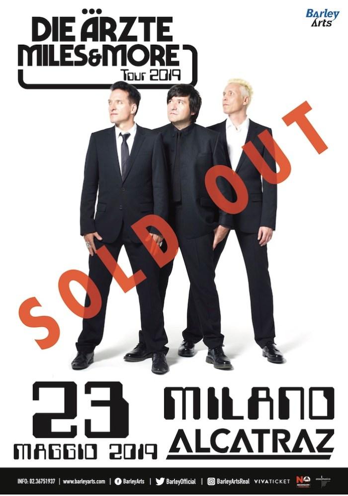 Die Arzte, è sold out il concerto del 23 maggi 2019 all'Alcatraz di Milano