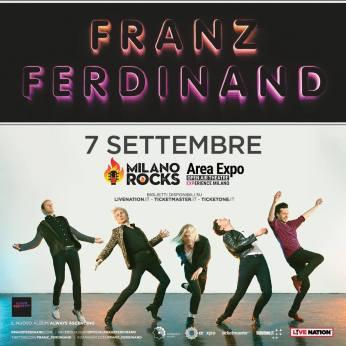 Franz Ferdinand concerto Milano Rocks venerdì 7 settembre 2018