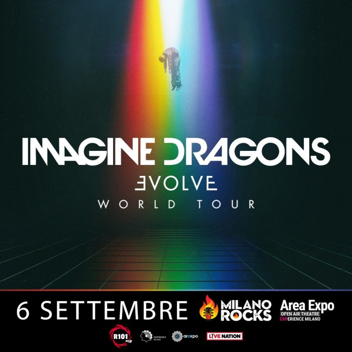 Gli Imagine Dragons in concerto al Milano Rocks giovedì 6 settembre 2018