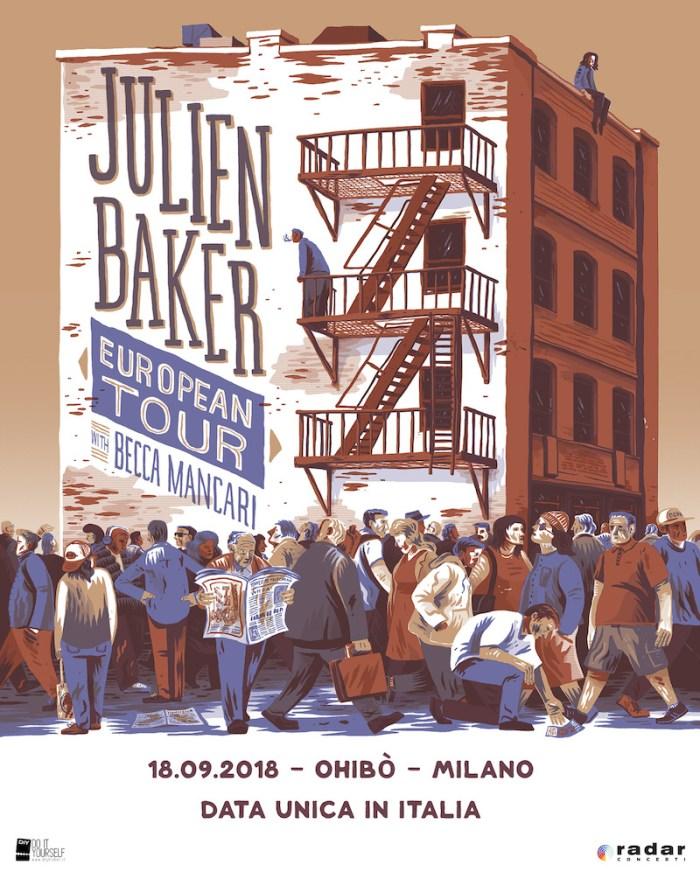 """Julien Baker presenta l'album """"Turn Out The Lights"""" dal vivo il 18 settembre 2018 al Circolo Ohibò di Milano"""
