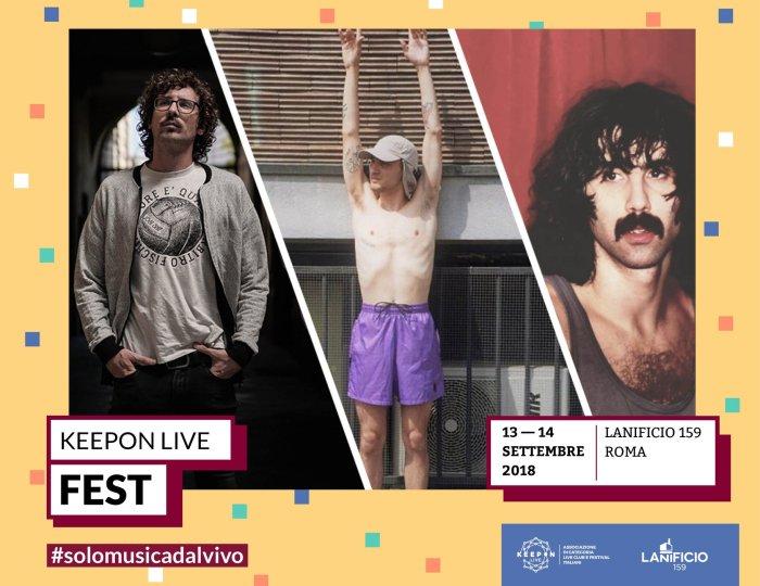 KeepOn Live Fest 2018 Lanificio Roma concerti con Willie Peyote, Generic Animal e Andrea Laszlo De Simone
