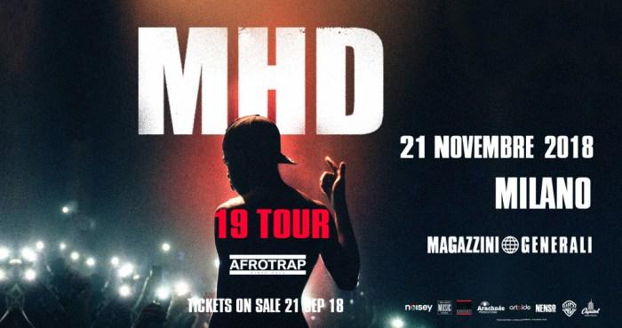 MHD porta la sua afrotrap a Milano il 21 novembre