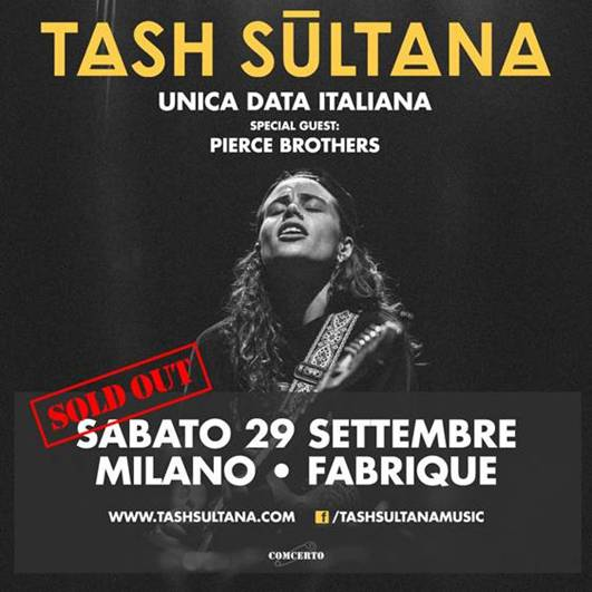 Comcerto annuncia il sold out per l'unica data italiana di Tash Sultana sabato 29 settembre al Fabrique di Milano
