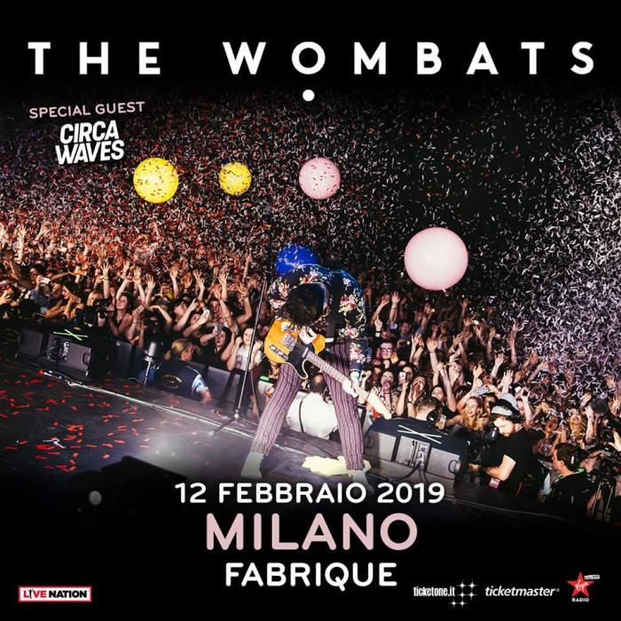 The Wombats in concerto il 12 febbraio 2019 al Fabrique di Milano