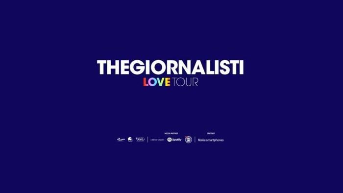 """Thegiornalisti aggiungono nuovi concerti al """"Love Tour"""" nei palazzetti a marzo e aprile 2019"""