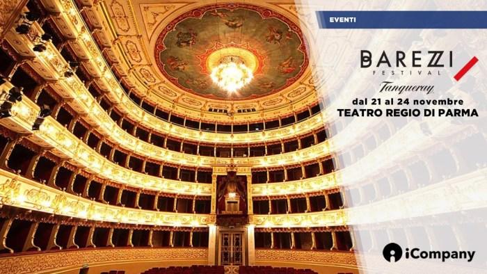 Dal 21 al 24 novembre si terrà il Barezzi Festival al Teatro Regio di Parma, partner dell'evento sarà iCompany