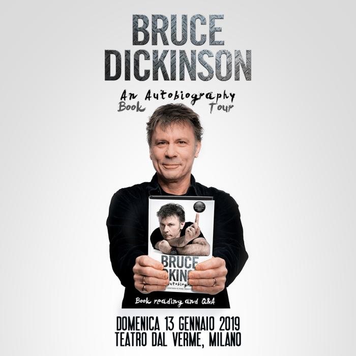"""Bruce Dickinson arriva in Italia per presentare in reading il suo libro """"What Does This Botton Do?"""""""