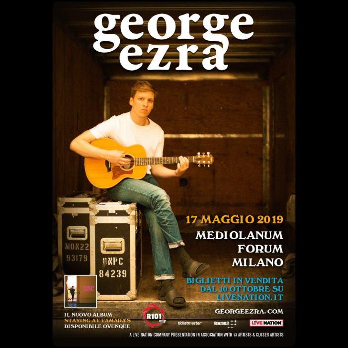 """George Ezra torna in Italia per presentare l'album """"Staying At Tamara's"""", in concerto venerdì 17 maggio 2019 al Mediolanum Forum di Milano"""