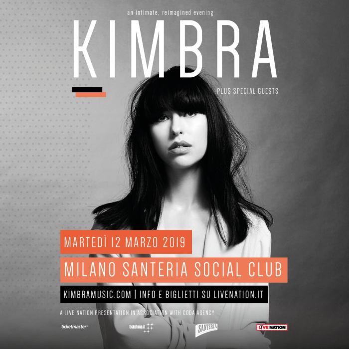 kimbra-concKimbra in concerto martedì 12 marzo 2019 al Santeria Social Club di Milano