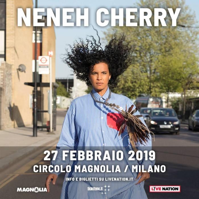 """Neneh Cherry in concerto il 27 febbraio 2019 al Circolo Magnolia di Milano per presentare l'album """"Broken politics"""""""