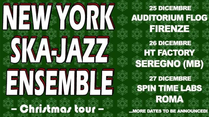 Il collettivo New York Ska-Jazz Ensemble torna in tour in Italia a dicembre