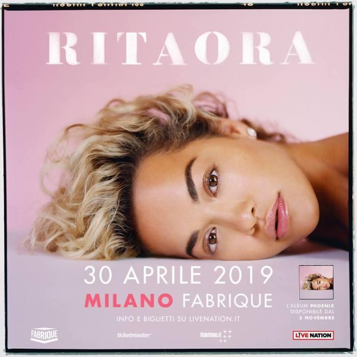 """Rita Ora in concerto a Milano il 30 aprile 2019 per presentare il nuovo album """"Phoenix"""" in uscita il 3 novembre"""