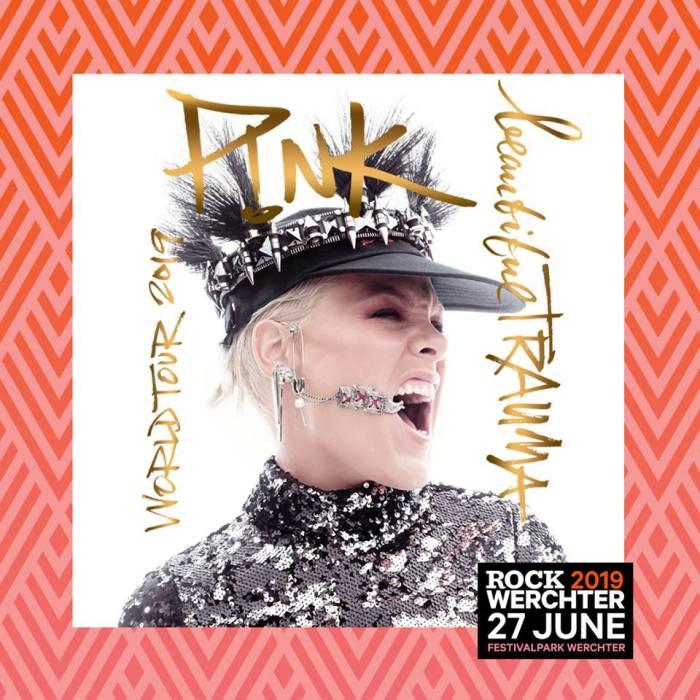 Pink inaugura l'edizione 2019 del Rock Werchter giovedì 27 giugno