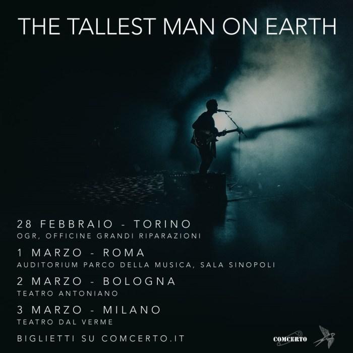 """The Tallest Man On Earth arriva a febbraio e marzo a Torino, Roma, Bologna e Milano per presentare """"When The Bird Sees The Solid Ground"""""""