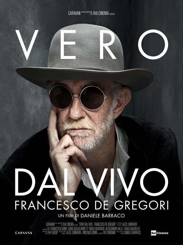 """Locandina """"Vero Dal Vivo"""" Francesco De Gregori in onda sabato 1 dicembre alle ore 21.40 su Rai 3"""