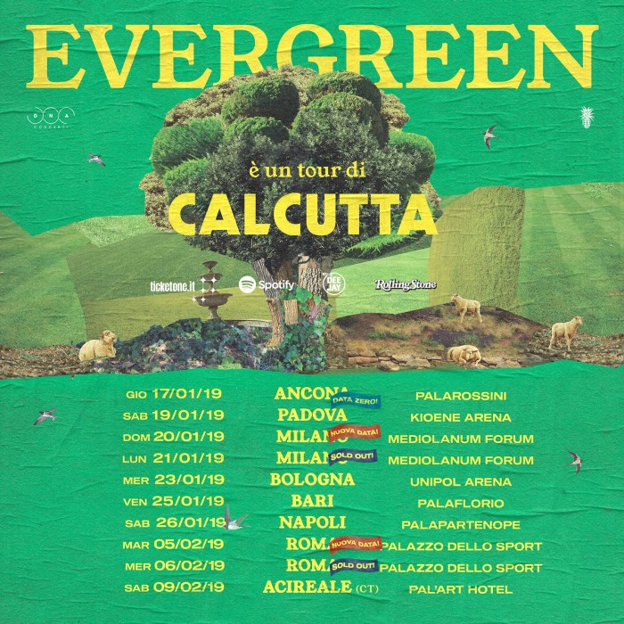 "Calcutta apre il tour ad Ancona, data zero di ""Evergreen Tour"""