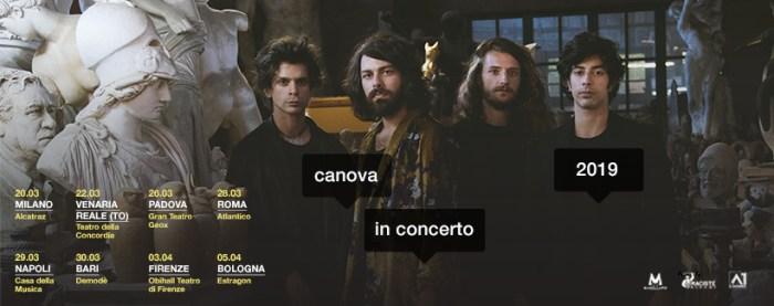 I Canova tornano in tour nel 2019 nei club di tutta Italia